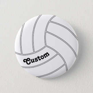 Badges Pin rond de bouton de volleyball PERSONNALISABLE
