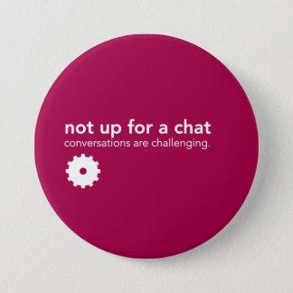 Badges Pin rouge de communication - pas pour un