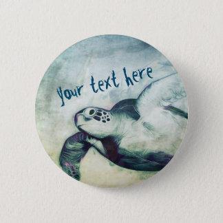 Badges Pin volant de bouton de la tortue de mer verte |