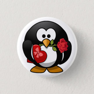 Badges Pingouin Animated de Saint-Valentin