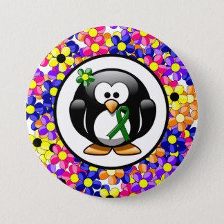 Badges Pingouin vert de ruban
