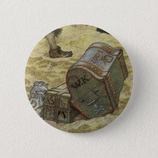 Badges Pirates vintages, William Kidd enterrant le trésor