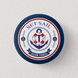 Badges Placez le voyage d'océan de voile nautique