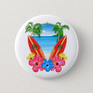 Badges Plage et planches de surf tropicales
