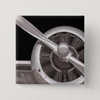 Badges Plan rapproché de propulseur d'avion