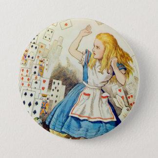 "Badges Plate-forme d'Alice-Vol des cartes - 3"" bouton"