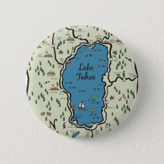 Badges Pleine carte de région du lac Tahoe