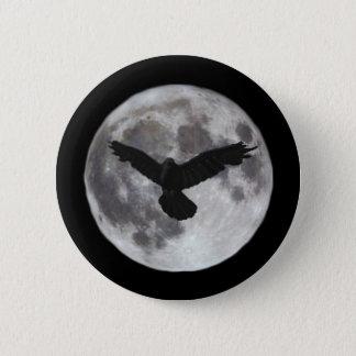 Badges Pleine lune avec le vol de corneille devant lui
