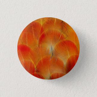 Badges Plumes oranges d'ara de Camelot