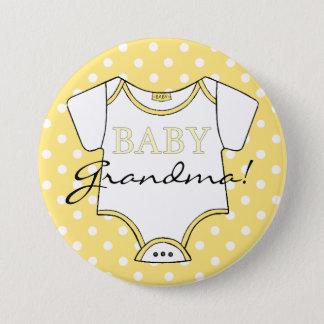 Badges Pois jaune je suis la grand-maman !