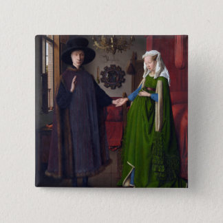 Badges Portrait 1434 de JANV. VAN EYCK- Arnolfini