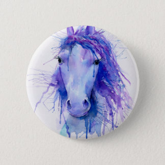 Badges Portrait abstrait de cheval d'aquarelle