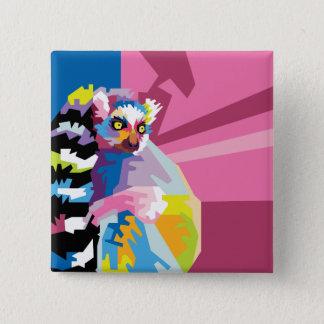 Badges Portrait coloré de lémur d'art de bruit