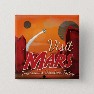 Badges Poster vintage de Mars de visite