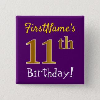 Badges Pourpre, anniversaire d'or de Faux 11ème, avec le