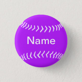 Badges Pourpre de bouton de silhouette du base-ball
