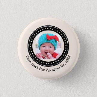 Badges Premier souvenir de photo de Valentine du bébé