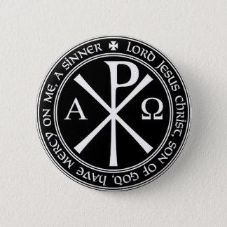 Badges Prière de Jésus avec Chi-RO noir et blanc en