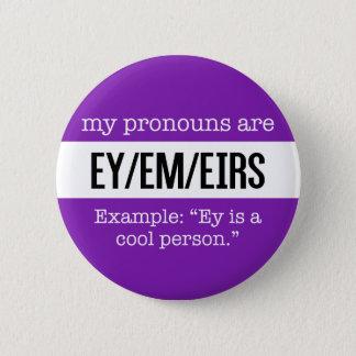 Badges Pronoms d'Ey/Em - drapeau créatif de genre