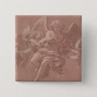 Badges Putto et ange tenant une banderole