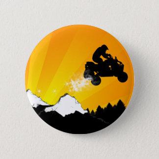 Badges quadruples. coucher du soleil orange