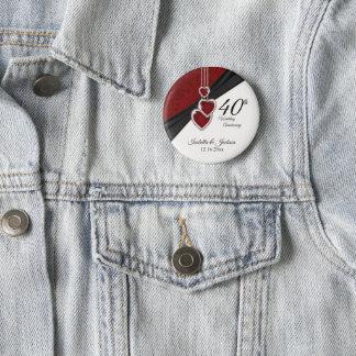 Badges quarantième Conception d'anniversaire de mariage