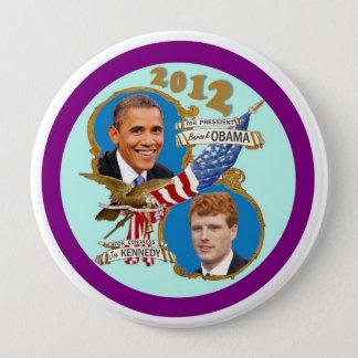 Badges Queue 2012 de manteau d'Obama Kennedy