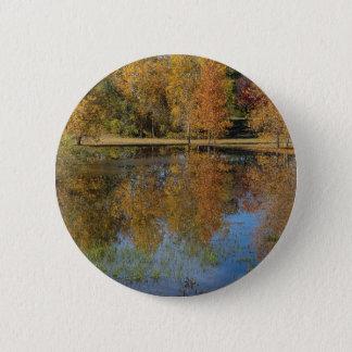 Badges Réflexions colorées d'étang d'automne