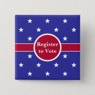 Badges Registre de rouge, blanc et bleu pour voter le