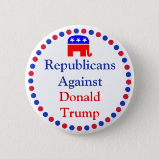 Badges Repulicans contre le bouton de Donald Trump