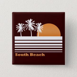 Badges Rétro bouton du sud de plage