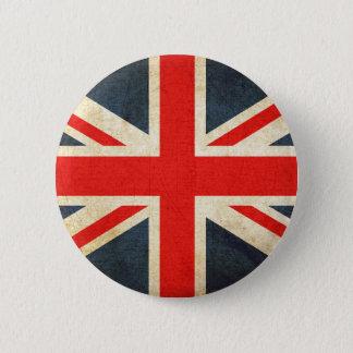 Badges Rétro drapeau britannique d'Union Jack bouton rond