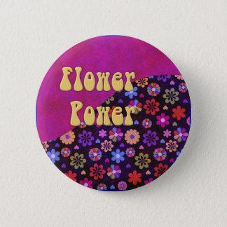 Badges Rétro flower power super 60s les années 70