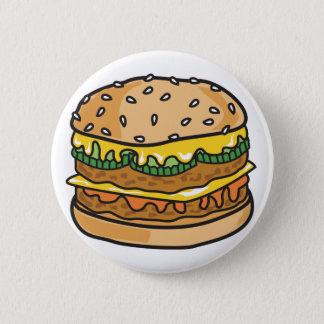 Badges rétro hamburger de fromage