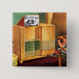 Badges Rétro radio vintage de télévision du kitsch TV