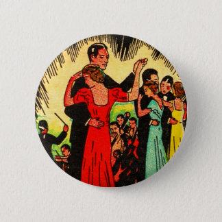 Badges Rétros danseurs vintages de salle de bal de kitsch