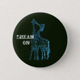 Badges Rêve sur Girafes dessinant autour de l'insigne