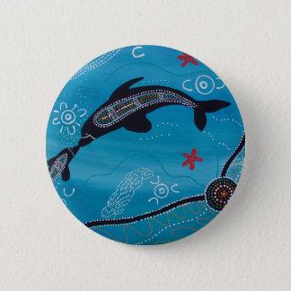 Badges Rêver de dauphin et de veau
