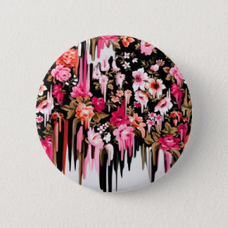 Badges Revirement, motif floral de fonte