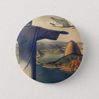 Badges Rio de Janeiro vintage, le Christ la statue de