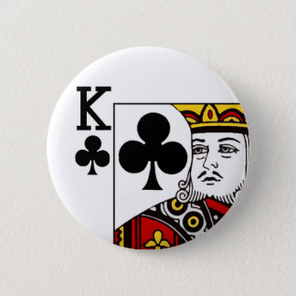 Badges Roi de trèfle l'insigne de bouton de carte de jeu
