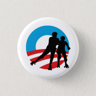 Badges Rollergirls 4 OBAMA bouton de 1-1/4""