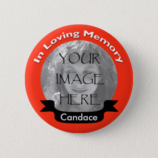 Badges Rouge lumineux dans le bouton affectueux de photo
