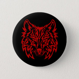 Badges Rouge tribal de loup
