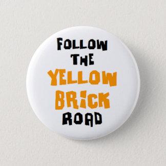 Badges route jaune de brique