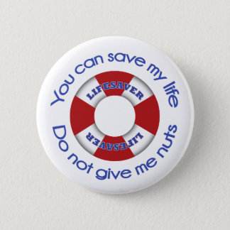 Badges Sauveteur - bouton d'allergie d'écrou