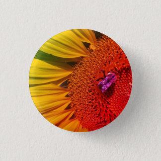Badges Sauvez le bouton jaune lumineux de tournesol