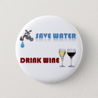 Badges Sauvez l'eau, vin de boissons