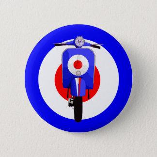 Badges Scooter de regard d'années '60 sur la cible de mod