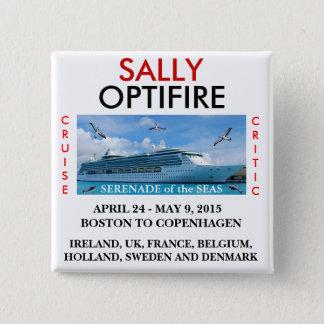 Badges Sérénade du bouton nommé d'étiquette de mers